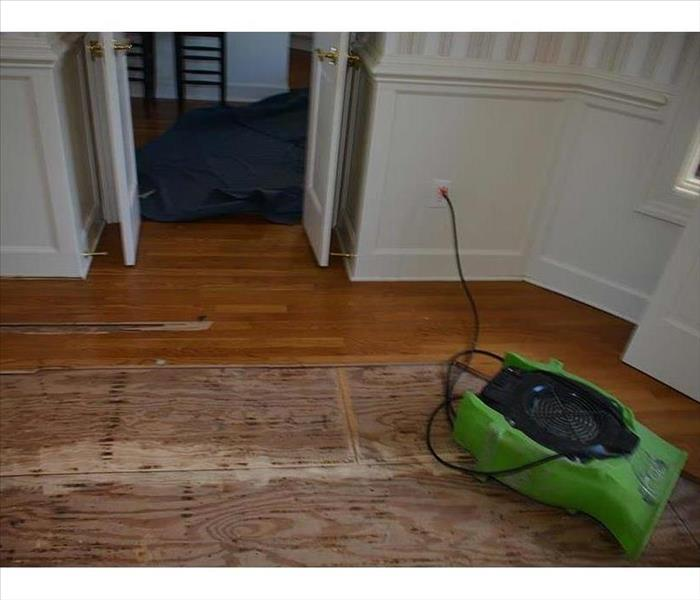 Buffalo Grove Water Damaged Flooring Before